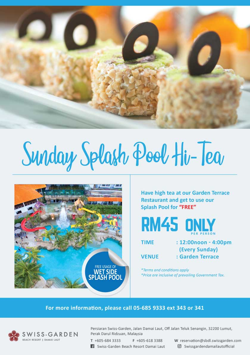 Sunday Splash Pool Hi-Tea