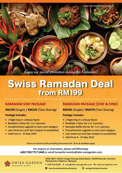 2 Days 1 Night Ramadan Stay Dine Package