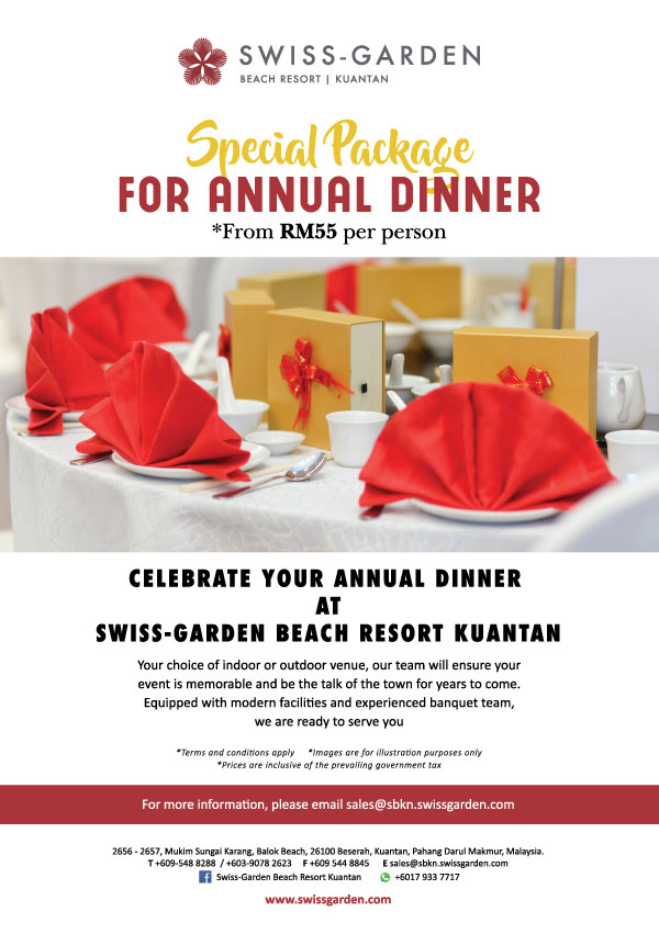 Annual Dinner Package Kuantan