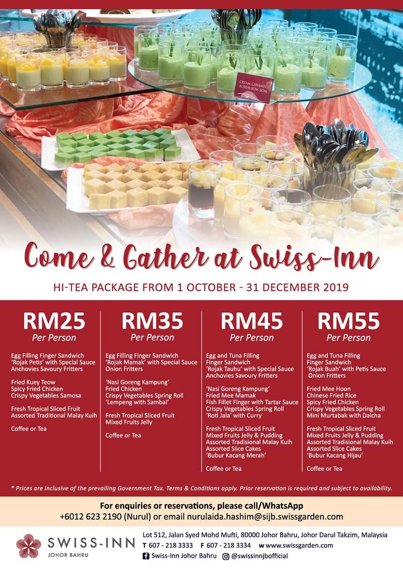 Hi Tea Promo October to December Johor Hotel