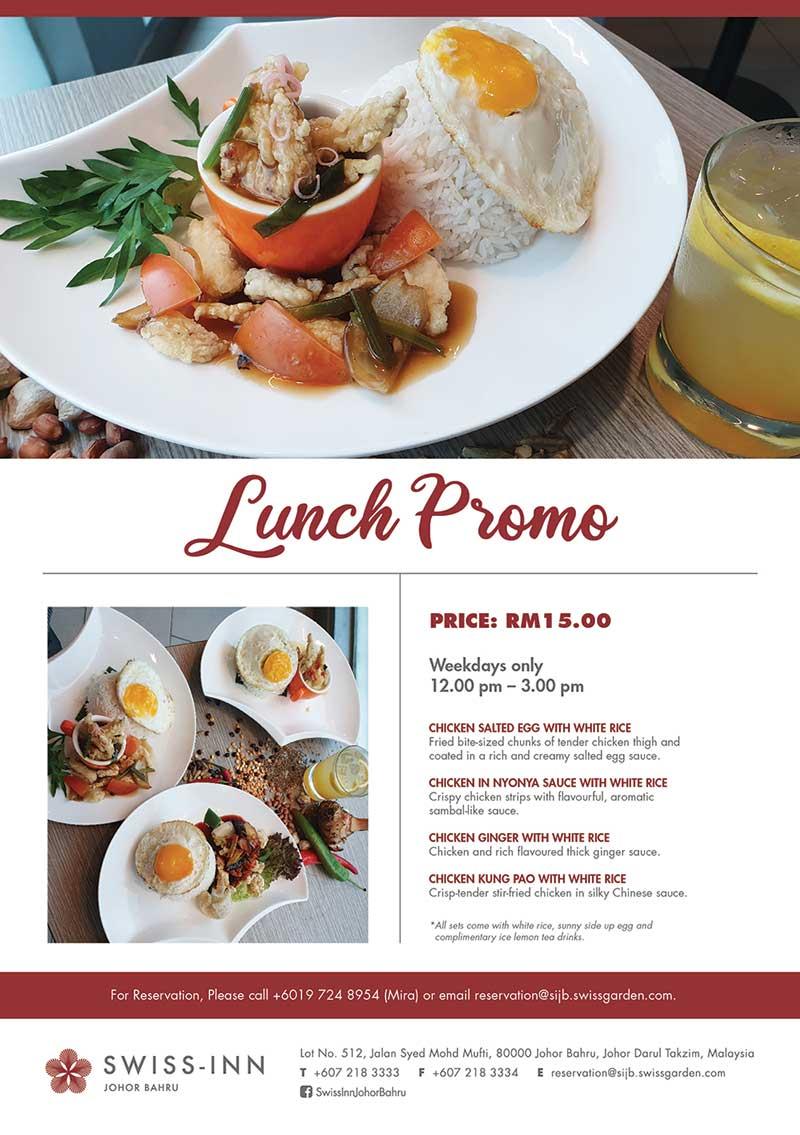 lunch set promotion hotel johor bahru