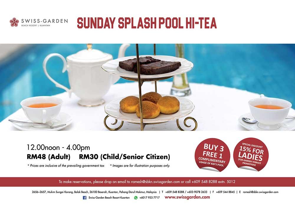 Splash pool hi tea promotion