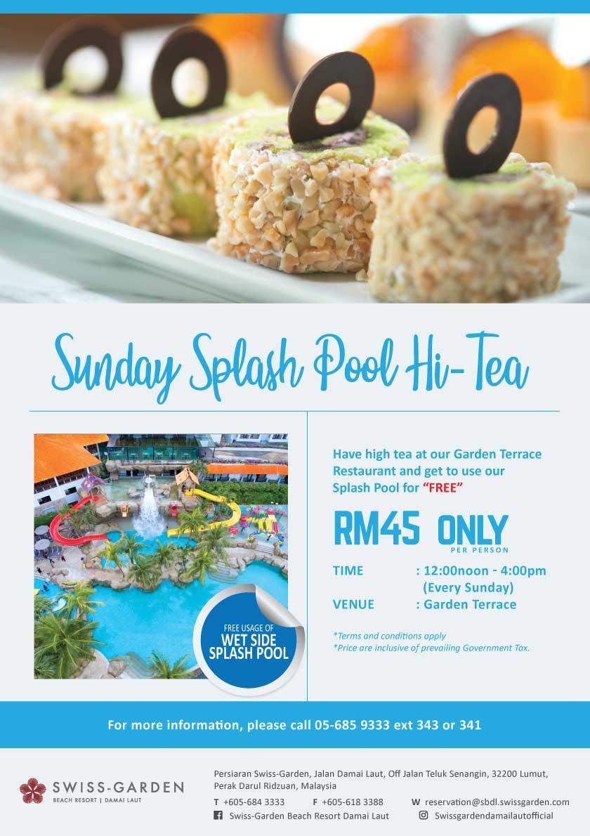 Sunday Splash Pool Hi-Tea