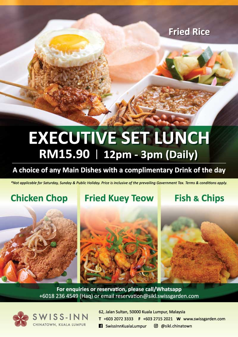 Executive Set Lunch Hotel Chinatown Promotion