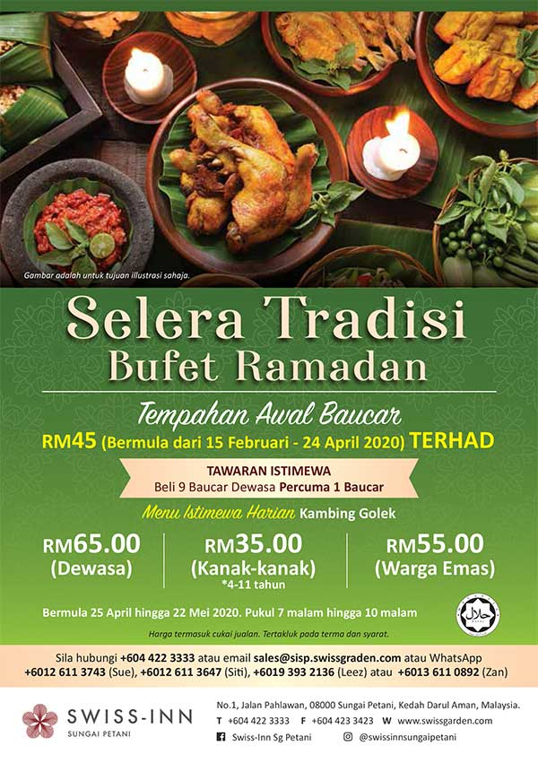 Selera Tradisi Ramadan Buffet Hotel Sungai Petani Promotion 2020