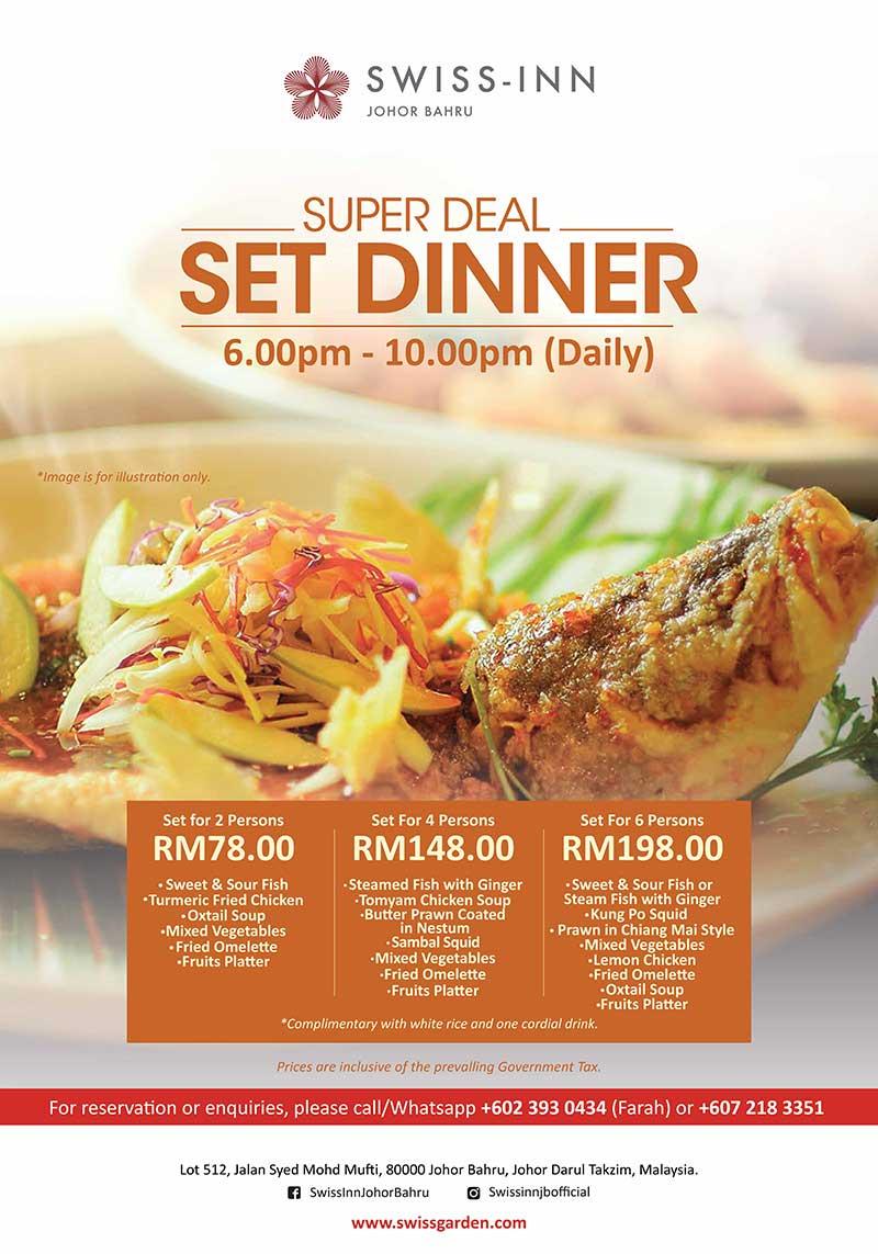 Set Dinner Super Deal