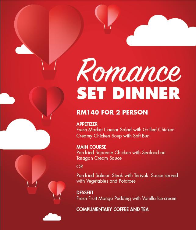 Romance Set Dinner 2020 hotel johor bahru